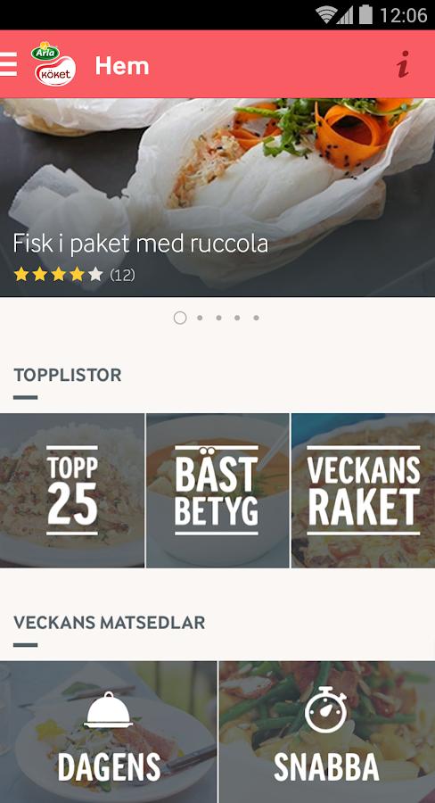 Arla Köket recept- screenshot