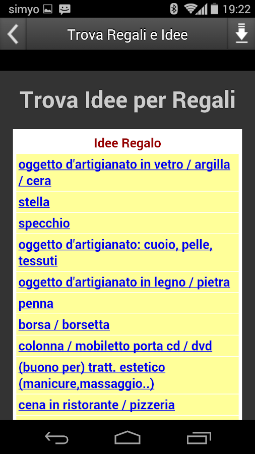 Trova Regali e Idee- screenshot