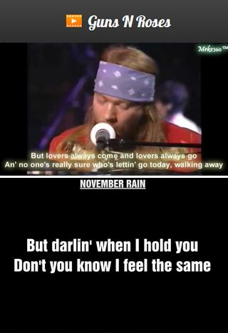 Guns N Roses Lyrics & Videos - Android Apps on Google Play