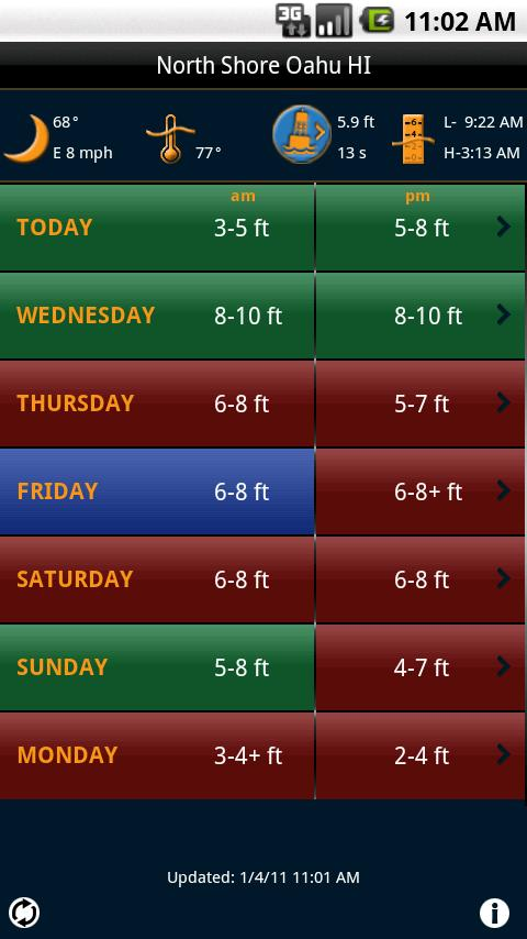 Swell Info Surf Forecast - screenshot
