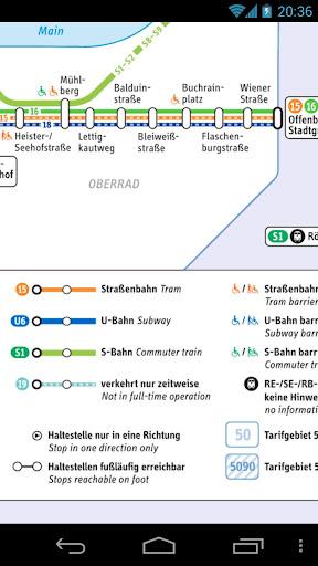 法蘭克福交通地圖