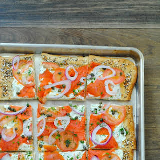 Everything Bagel Pizza with Lox.