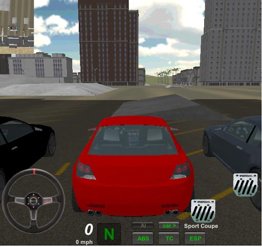 Lüx Araba Şehir Simülasyonu 3D