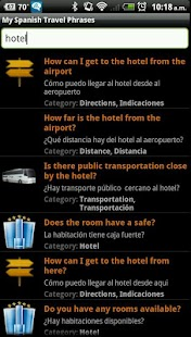 My Spanish Travel Phrases Free - screenshot thumbnail