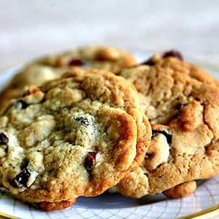 Brandied Cranberry, White Chocolate Chip Cookies.