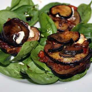 Aubergine, Courgette and Goat's Cheese Towers