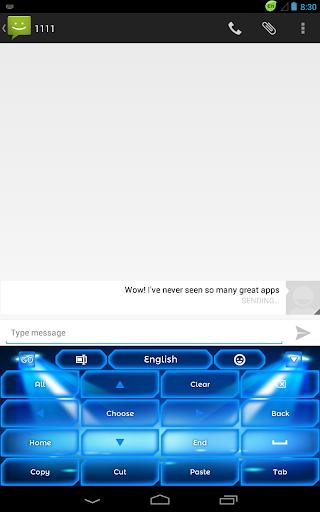 無料娱乐AppのキーボードネオンブルーGO|記事Game