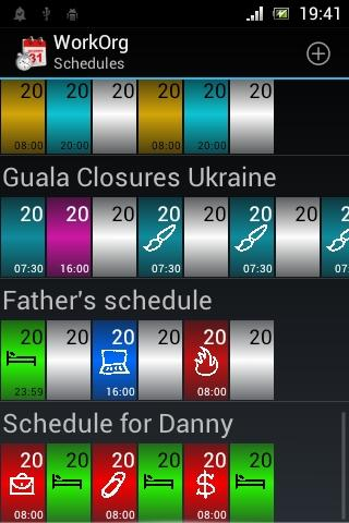 WorkOrg (Shift planner) - screenshot