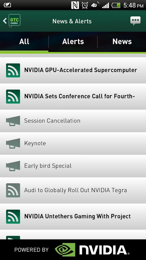 GTC Mobile - screenshot