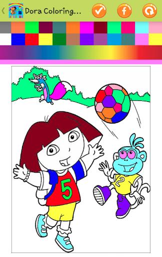 Dora Lego Coloring for Kids