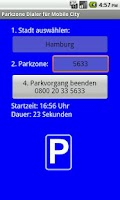 Screenshot of Parkzone Dialer f. Mobile City