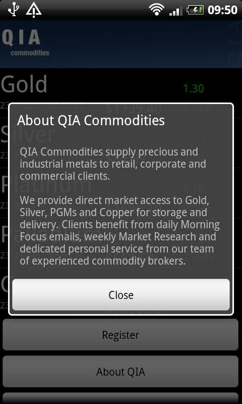 QIA Commodities - screenshot