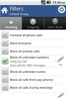 Screenshot of Call Blocker Silver Licence
