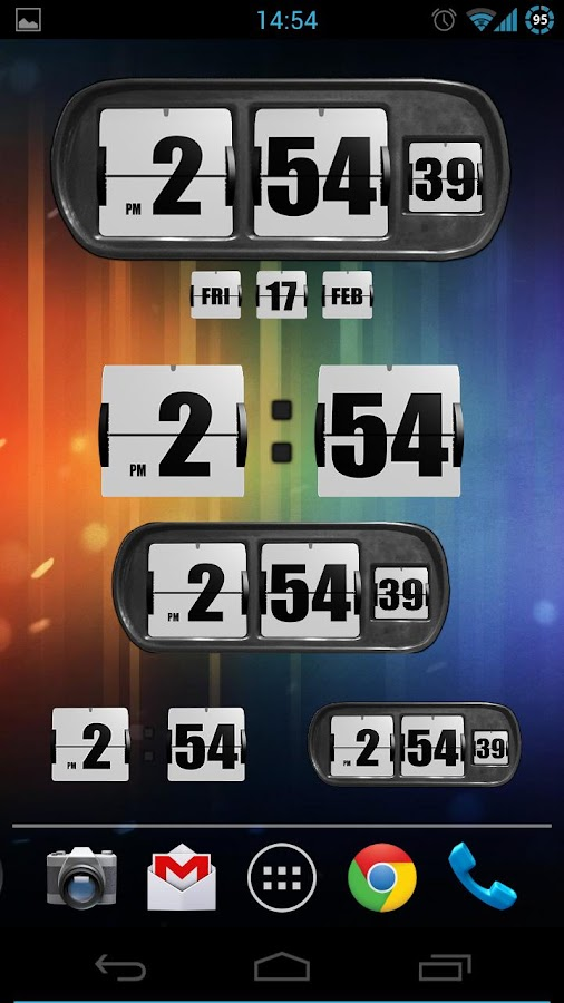 3D Animated Flip Clock PRO- screenshot
