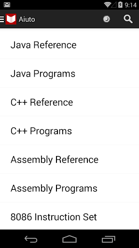 C++ Java Programs Reference