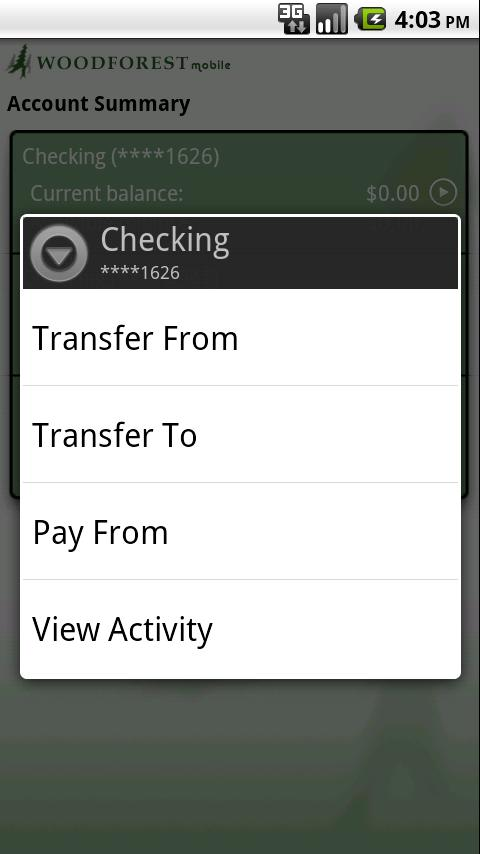 Woodforest Mobile Banking - screenshot
