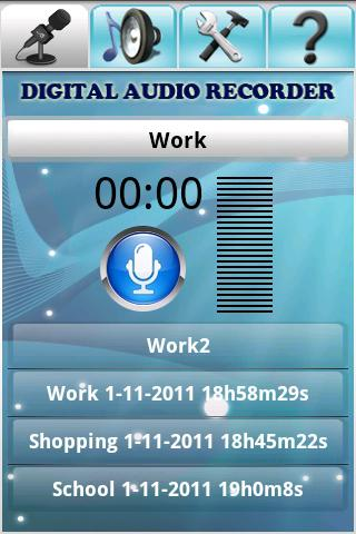 Digital Audio Recorder - screenshot