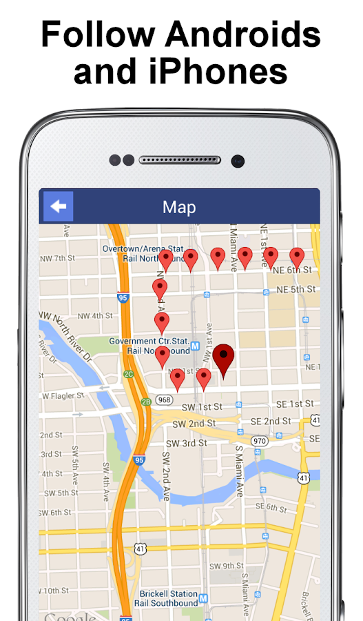 PhoneTracker with FriendMapper- screenshot