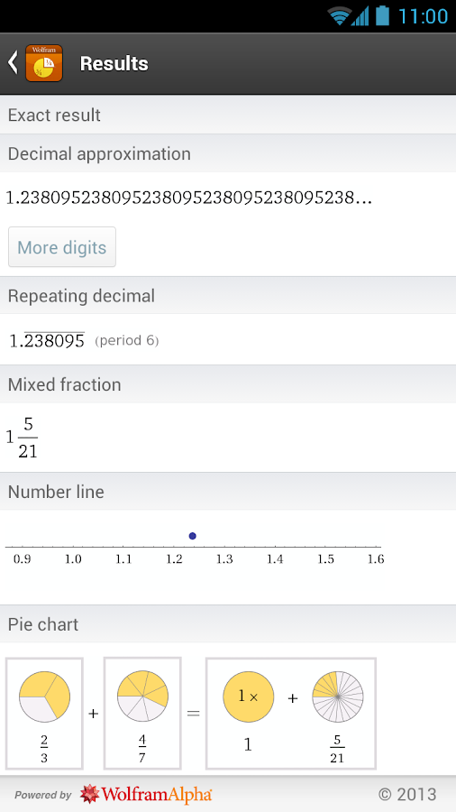 Fractions Reference App- screenshot