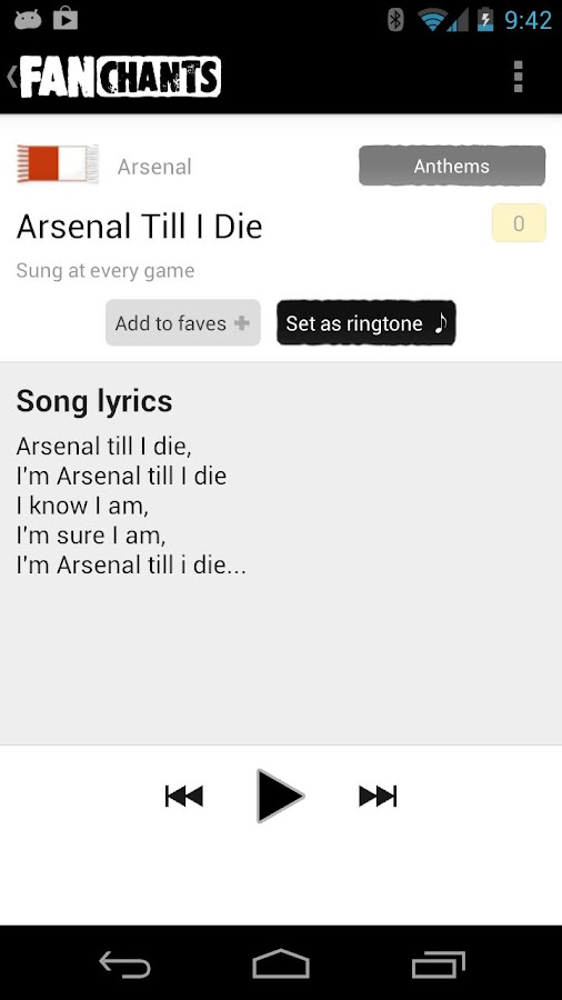FanChants Free Football Songs - screenshot