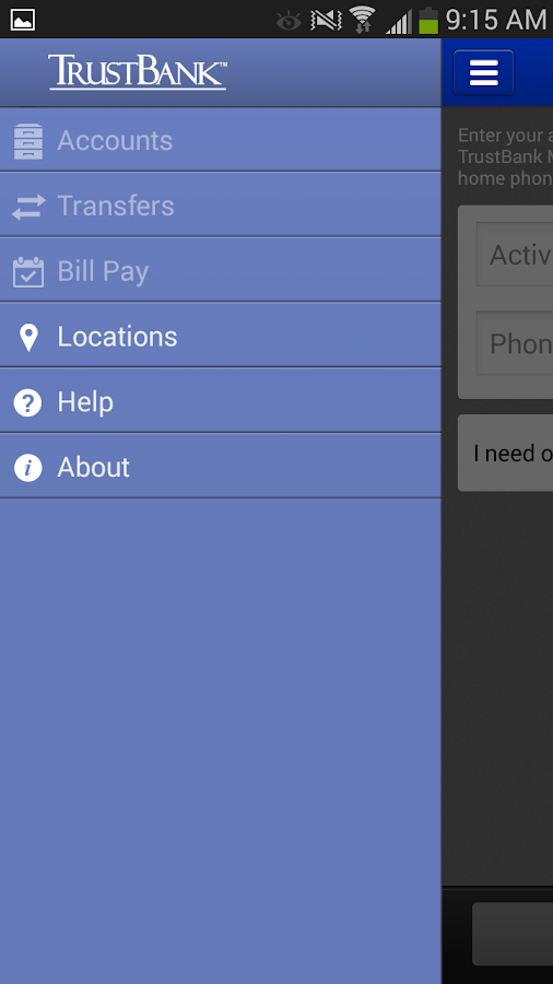 TrustBank - screenshot