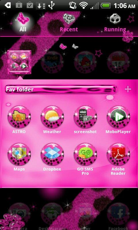 Pink Cheetah for Go Launcher- screenshot