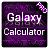 Purple Galaxy Calculator Theme