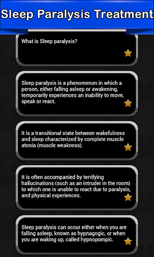 Sleep Paralysis Symptoms