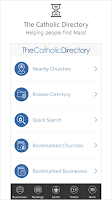 Screenshot of Catholic Directory Mass Times