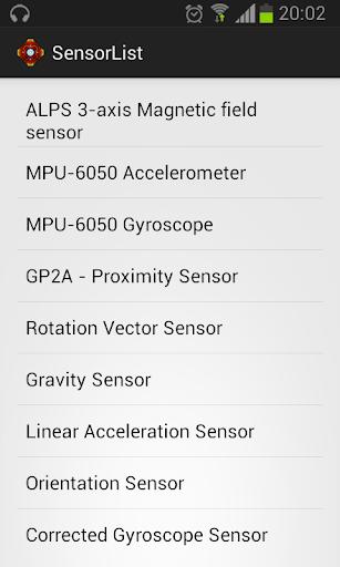 SensorList