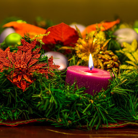 Advent wreath by Morrie Lorena - Public Holidays Christmas ( advent, decors, christmas, , decoration, object, colorful, mood factory, vibrant, happiness, January, moods, emotions, inspiration )