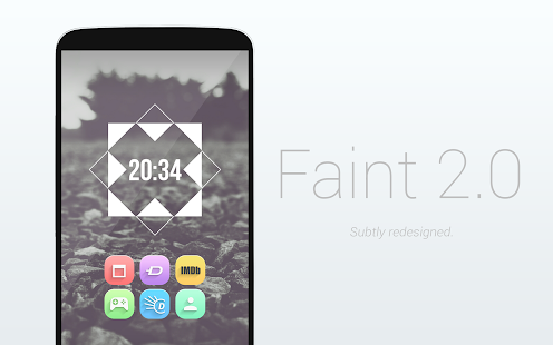Faint 2.0 - Icon Pack