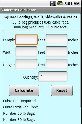 Concrete Calculator - Android Apps on Google PlayConcrete Calculator- screenshot