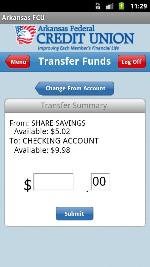 Arkansas FCU Mobile Banking - screenshot