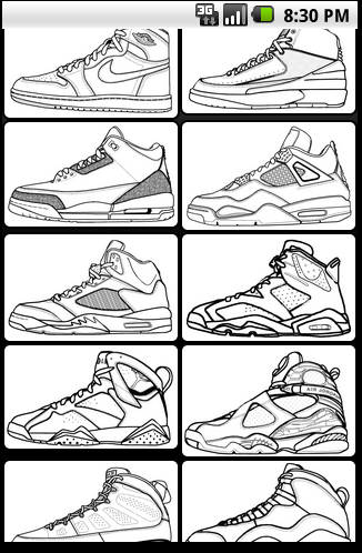 Air jordan coloring book for android Coloring book for me apk
