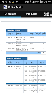 coursework timetable mmu