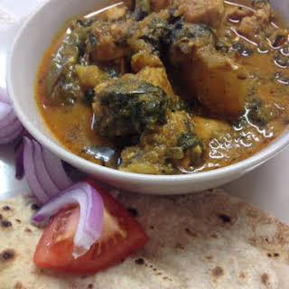 Punjabi Chicken & Spinach Curry.