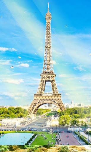 阳光灿烂的巴黎动态壁纸