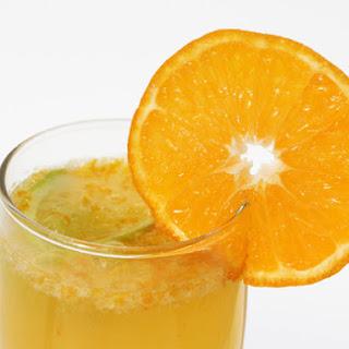 Tangerine Dream Champagne Cocktail.