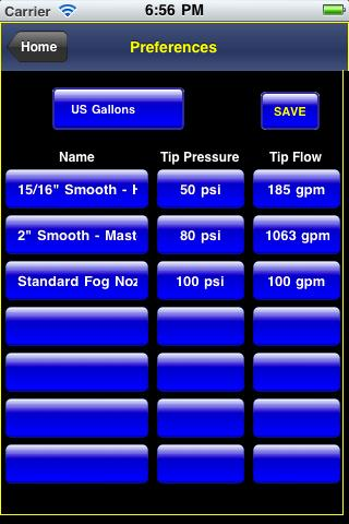 Firefighter Calculator - screenshot
