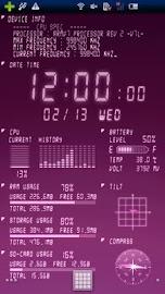 Device Info Ex Live Wallpaper Screenshot 3