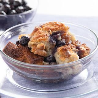 Creamy Blueberry Bread Pudding.