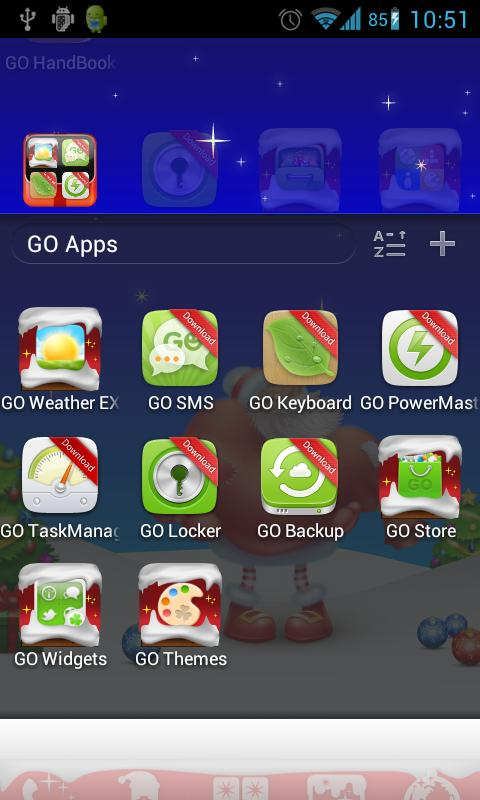 Christmas Go Launcher Theme - screenshot