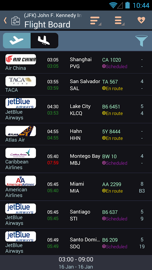 Airline Flight Status Tracker- screenshot