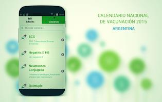 Screenshot of Vaccination Schedule 2015