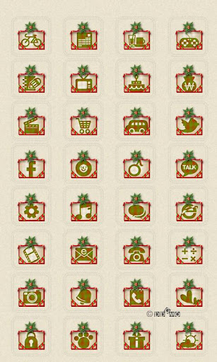 CUKI Theme X-Mas Card Icons