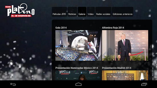 Premios Platino- screenshot thumbnail