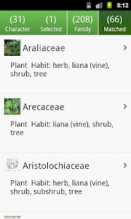 Key: Plant Families - screenshot thumbnail