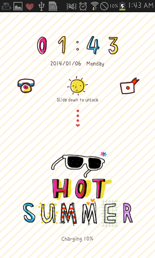 Hot Summer go locker theme