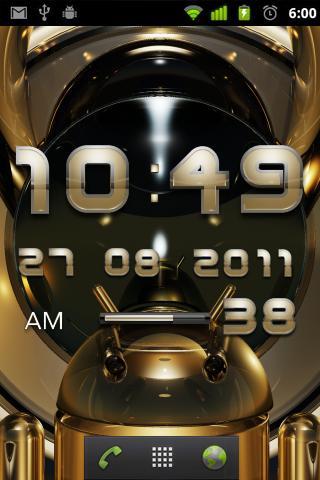 Golden Light Digital Clock